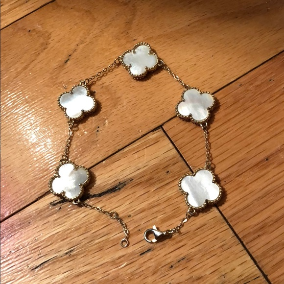 5 Clover Bracelet In Sterling Silver
